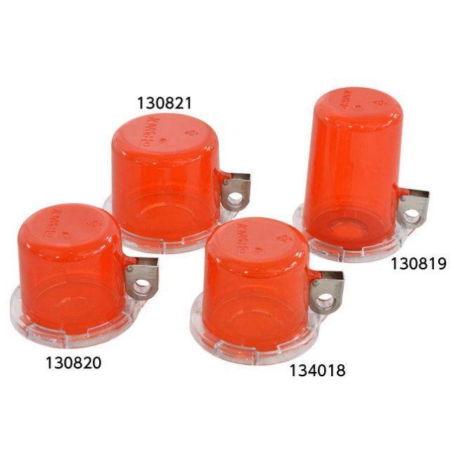 プッシュボタン ロックアウト デバイス(赤透明/30ミリメートル径ボタン用)