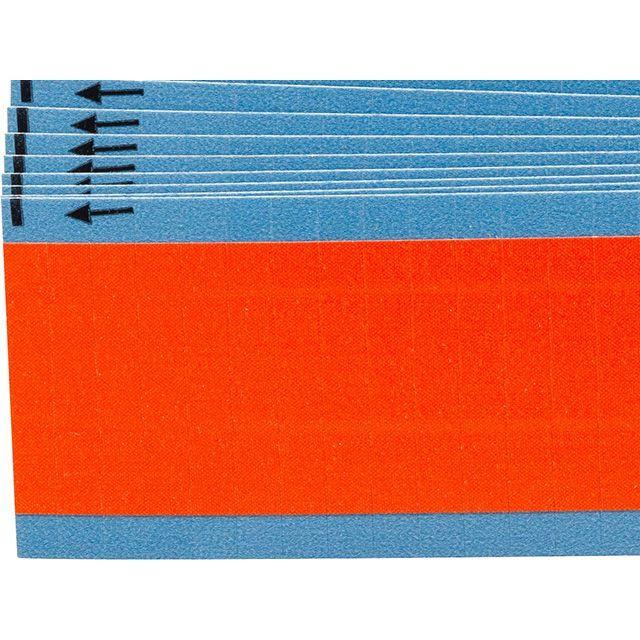 ワイヤーマーカーカード オレンジ無地 WM-COL-OR-PK  900ラベル/箱