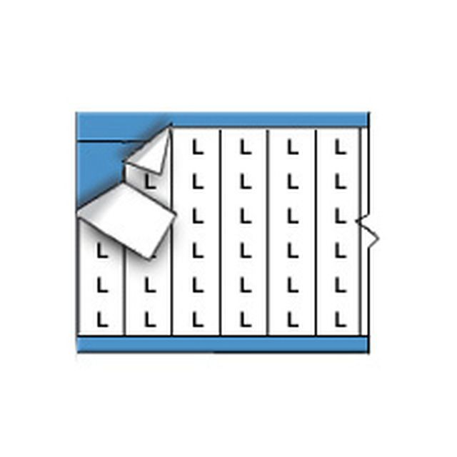 ワイヤーマーカーカード「L」WM-L-PK 900ラベル/箱