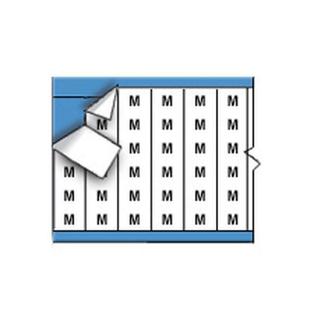 ワイヤーマーカーカード「M」WM-M-PK 900ラベル/箱