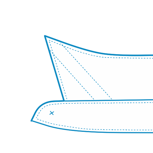 キーパー縫いこみ式
