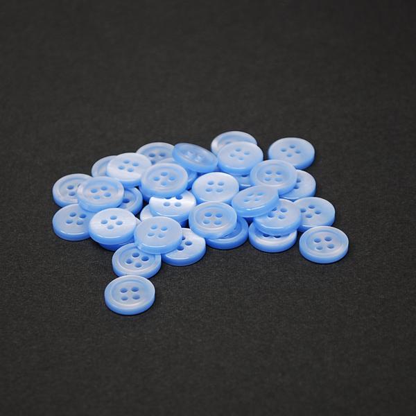サックス(淡いブルー)強化ポリボタン