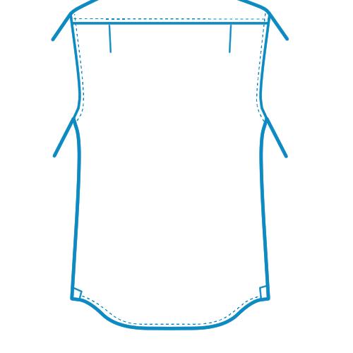 ガゼット付きシャツボトム