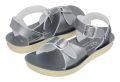 【Salt Water Sandals(ソルトウォーターサンダル)】Sun San surferPremium(ベルクロ)/Pewterメタリックシルバー/13.3cm〜22.4cm