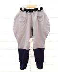 【frankygrowフランキーグロウ】BT-211/2TONE SWEAT PANTS/GRAY-BLACK