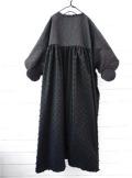 【frankygrowフランキーグロウ】OP-118/DOUBLE CIRCLE GATHER DRESS -BEAR MT/BONBON CUT JQ