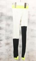 【frankygrowフランキーグロウ】TS-016/ASYMMETRIC TIGHTS/WHITE -BK-BK