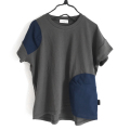 【frankygrowフランキーグロウ】CS-265/TULLE SWITCHING TEE