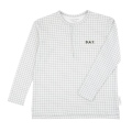 【tinycottons】AW18-043_B47/grid unisex ls tee/light grey*dark green