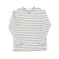 【tinycottons】AW18-048_B47/small stripes ls relaxed tee/light grey dark green