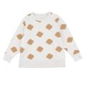 【tinycottons】AW18-079_B48/crisps fleece sweatshirt/light grey dark unde