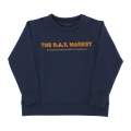 【tinycottons】AW18-091_B66/the day market graphic sweatshirt/navy*mustard
