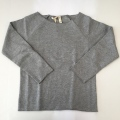 【GRAY LABEL(グレイ レーベル )】Ribless Sweater/Grey Melange