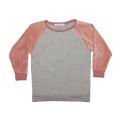 【MINGO.】 MI1800392A2/Velvet sweater/Grey melange*Raspberry
