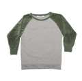 【MINGO.】 MI1800402A2/Velvet sweater/Grey melange*Duck green