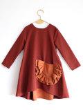 【WOLF & RITA】CLAUDIA - Dress/BORDEAUX /ORANGE