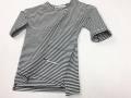 【MINGO.】MI1700062A3 T-shirt B/W stripes
