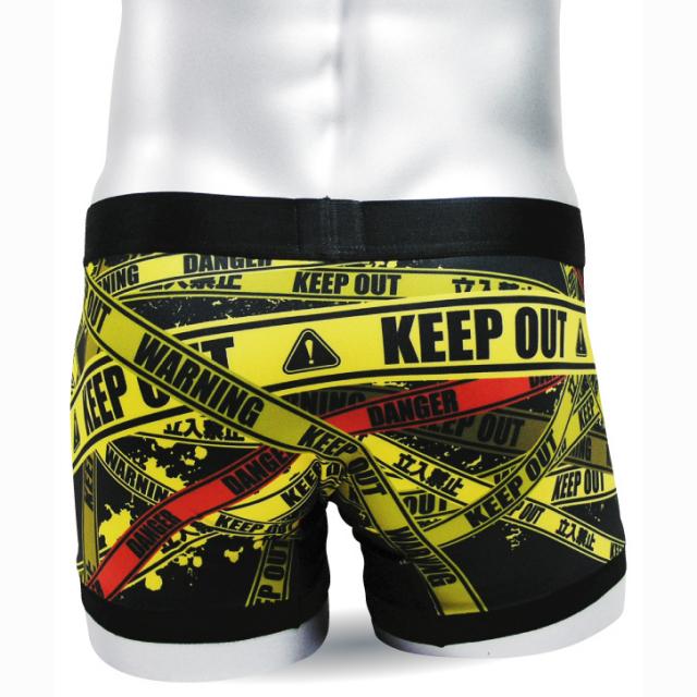 リアル プリント【 立ち入り禁止KEEP OUT 】 ボクサーパンツ 男性 メンズ 下着 【 Re:demon 】