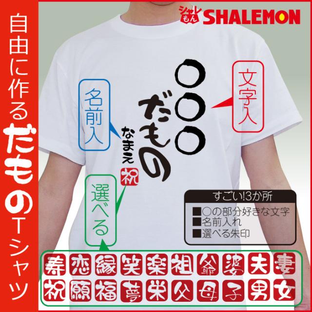 名入れ おもしろ tシャツ 【○○だもの】プレゼント 贈り物 ギフト★D13★DMT★