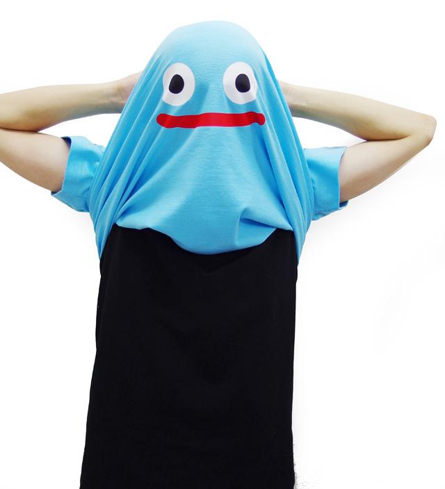 コスプレ 仮装 衣装 かぶって 変身 面白い おもしろ Tシャツ 【カブリッティ-まものがあらわれた】 プレゼント メンズ キッズ ドラクエ 仮装★I7★