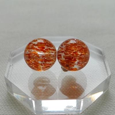 ビーズ粒売りスーパーセブン赤014 オレンジフラッシュ