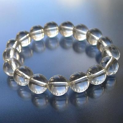 ヒマラヤ水晶ブレスレットクリア024