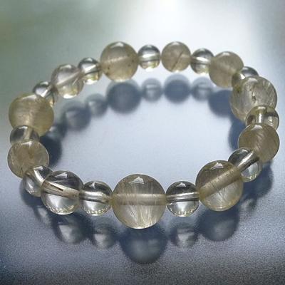 ヒマラヤ水晶ブレスレット内包物入り006