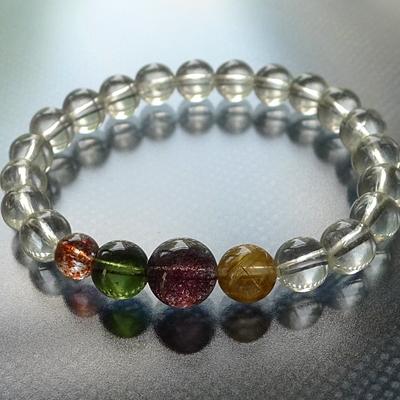 天然石オリジナルブレスレットシリーズ凪016