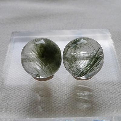 ヒマラヤ水晶ビーズ粒売り012 11ミリ玉ゴルカグリーン