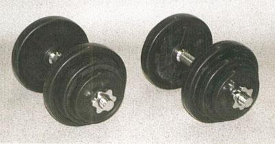 【ダンベル 20kg】 YY 20kgラバーダンベルセット(20kgx2) 【筋トレ/筋力アップ】