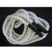 【動画参照】ザオバ トレーニングロープ(長さ:12m20cm、太さ:50mm)色:黒