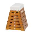 【受注生産品】【跳箱】トーエイライト 跳び箱ST6段(上部ライン無)(小学校向け)T-1858