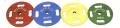【オリンピックプレート】【ラバープレート】STEELFLEX カラーラバープレート25kg 50mm孔径(2枚1組)