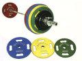 【バーベルセット】【ラバープレート】STEELFLEX オリンピックバーベルセット(STEELFLEX50mm孔径ラバーバーベル) 182.5kgセット No.7
