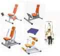 【リハビリ器具】【高齢者筋力アップ器具】 GYMシリーズ サーキットトレーニング・レイアウトE (肩回り・太もも回り・下半身・腹筋・全身を鍛える5機種+クッションステップ台)