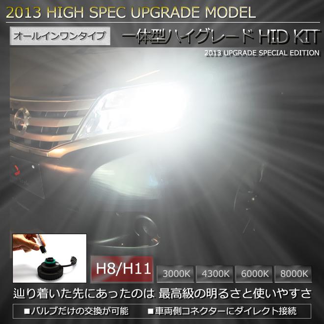 H8/H11一体型HIDキット 世界最小クラスのオールインワンタイプ 圧倒的明るさのHID