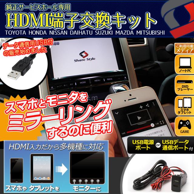 HDMI増設サービスホールキット スマホと車をミラーリング メーカー別専用設計 HDMI機能付ナビ対応 HDMI スマホ iphone HDMIミラーリング HDMIナビ変換 HDMIケーブル 変換 HDMIケーブル変換 HDMIケーブル変換ミラーリング