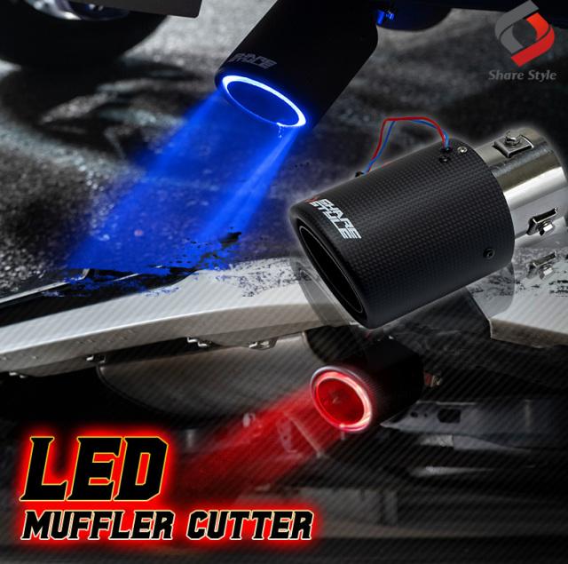 LED付 マフラーカッター カーボン [J]