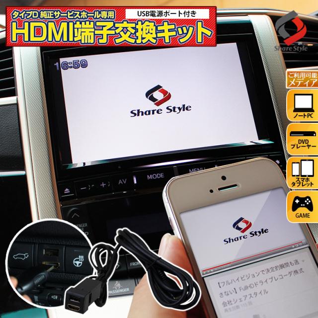 トヨタ ダイハツ汎用 Dタイプ HDMIサービスホール USBポート HDMIポート 各1ポート [K]
