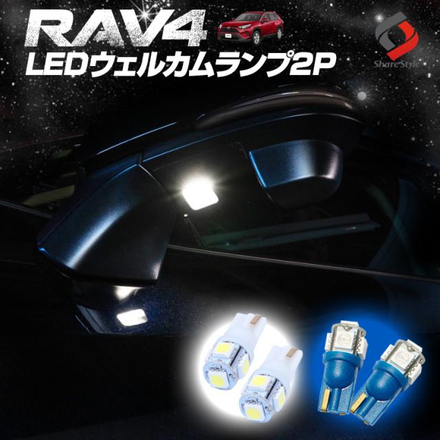 RAV4 50系 ウエルカムランプ2P T10 5連[A]