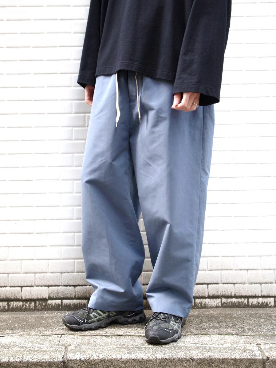 """【2021SS】 ANEI (アーネイ)  """"ISLE PANTS J.P."""" <パンツ> - BLUE GRAY"""
