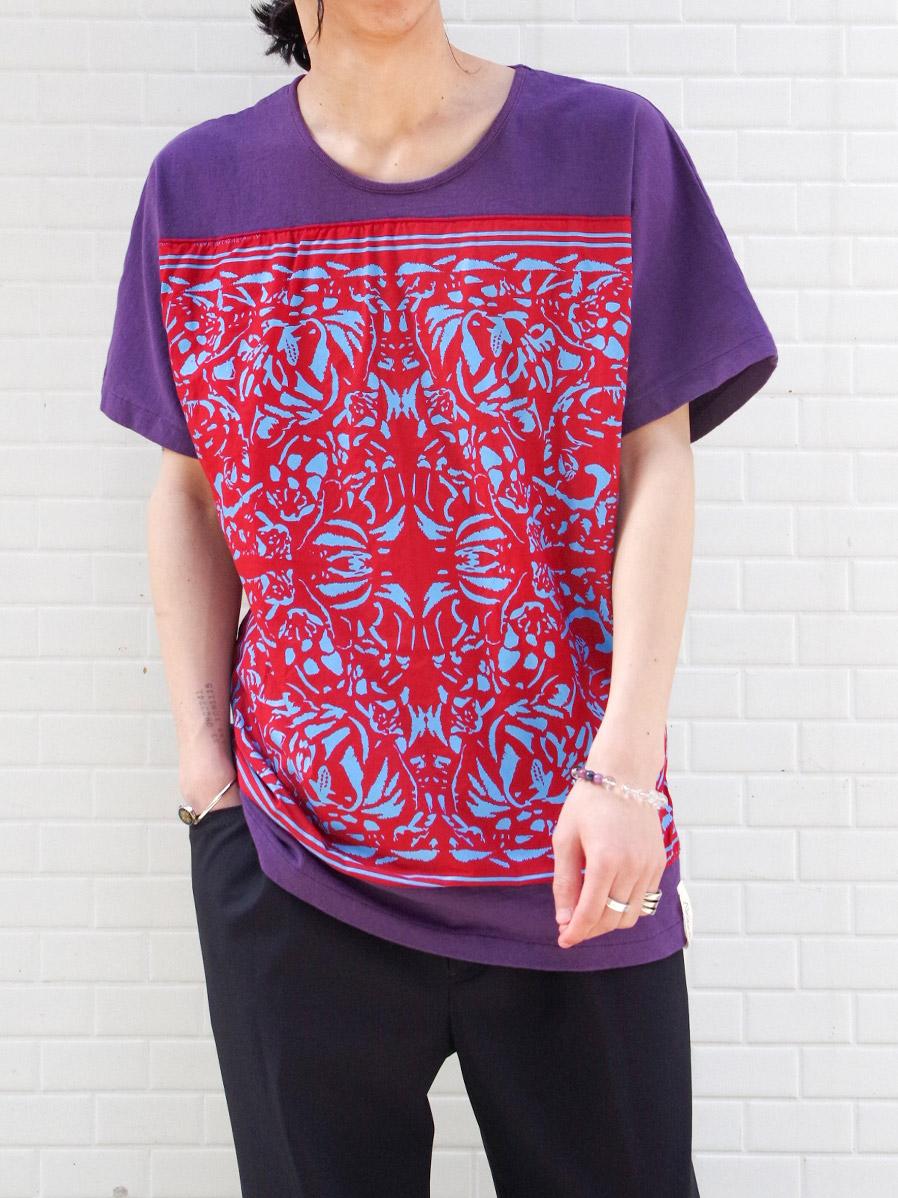 "【21SS】 AlexanderLeeChang   ""BANDANA T 21"" <Tシャツ/カットソー> - PURPLE"