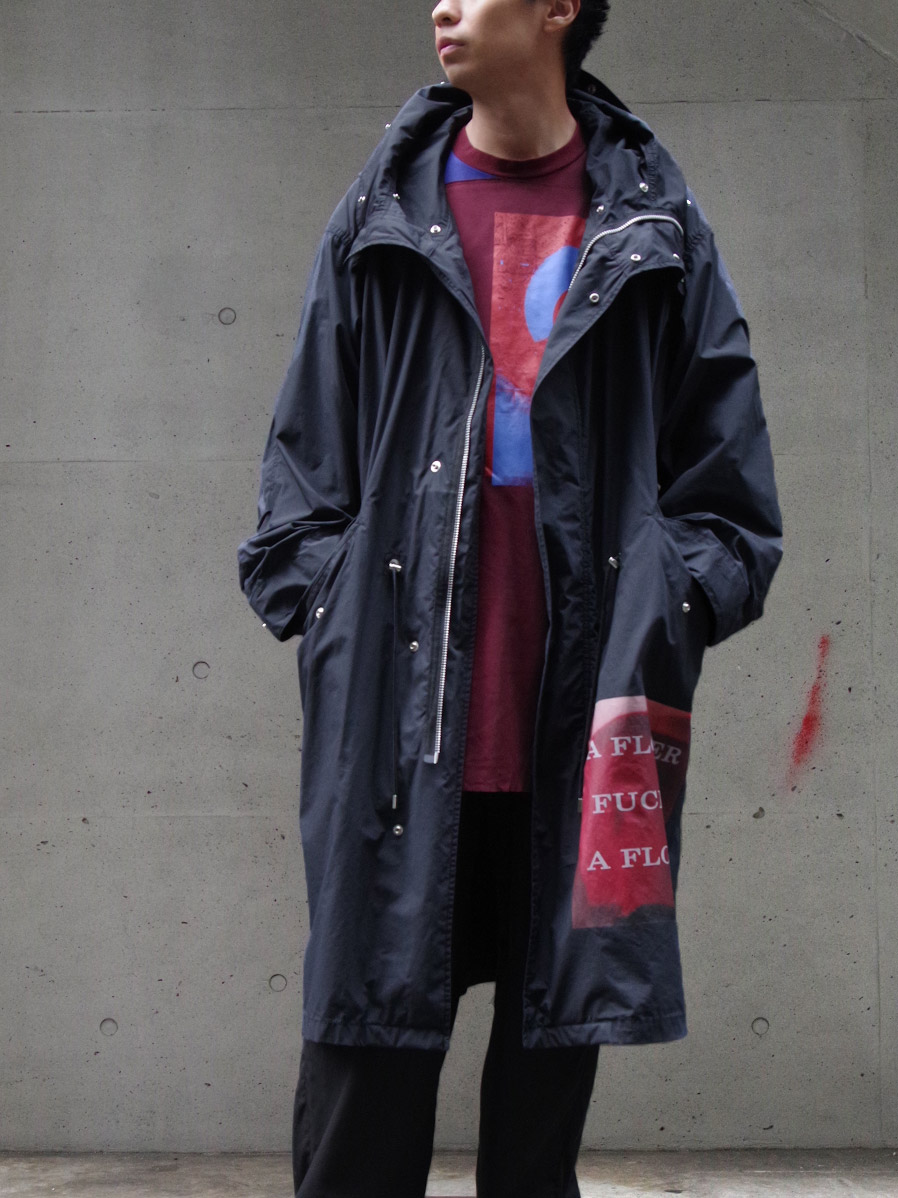 "【20AW】 ALMOSTBLACK (オールモストブラック) ""MODS COAT graphic by PETER DE POTTER"" <モッズコート>"