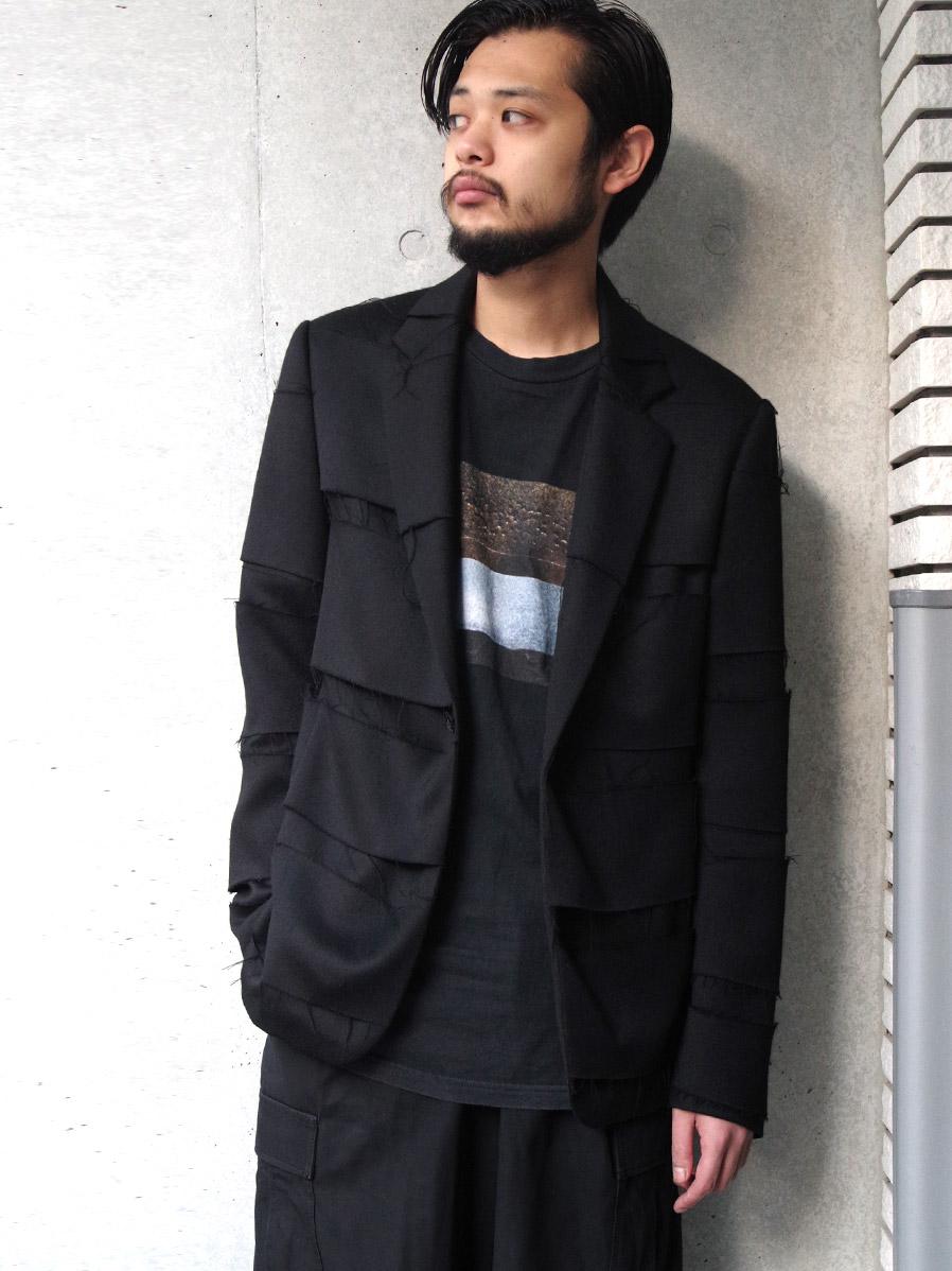 """【20AW】 ALMOSTBLACK (オールモストブラック) """"DOUBLE CLOTH TAILORED JACKET"""" <テーラードジャケット>"""