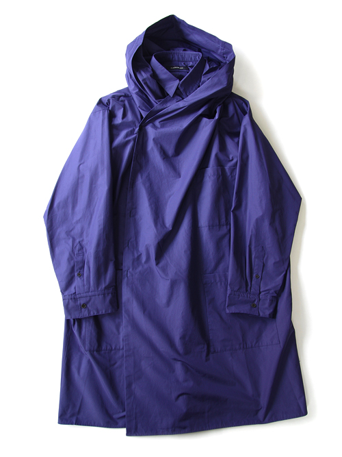 "【18AW】 ALMOSTBLACK (オールモストブラック) ""HOODED SHIRT COAT"" <シャツコート> - BLUE"