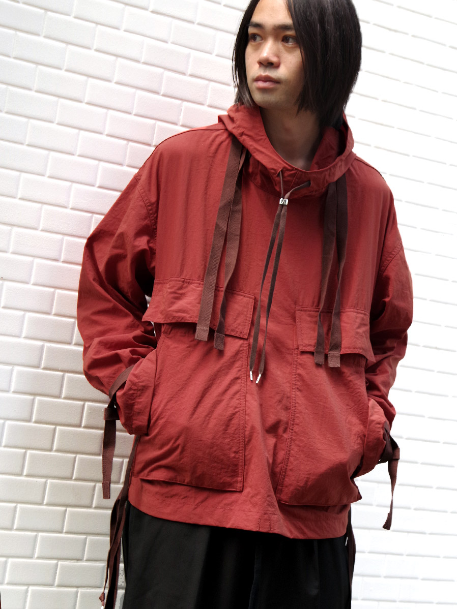 "【2020AW】 ANEI (アーネイ)  ""NAVAL HOODIE"" <アノラック> - BRICK"