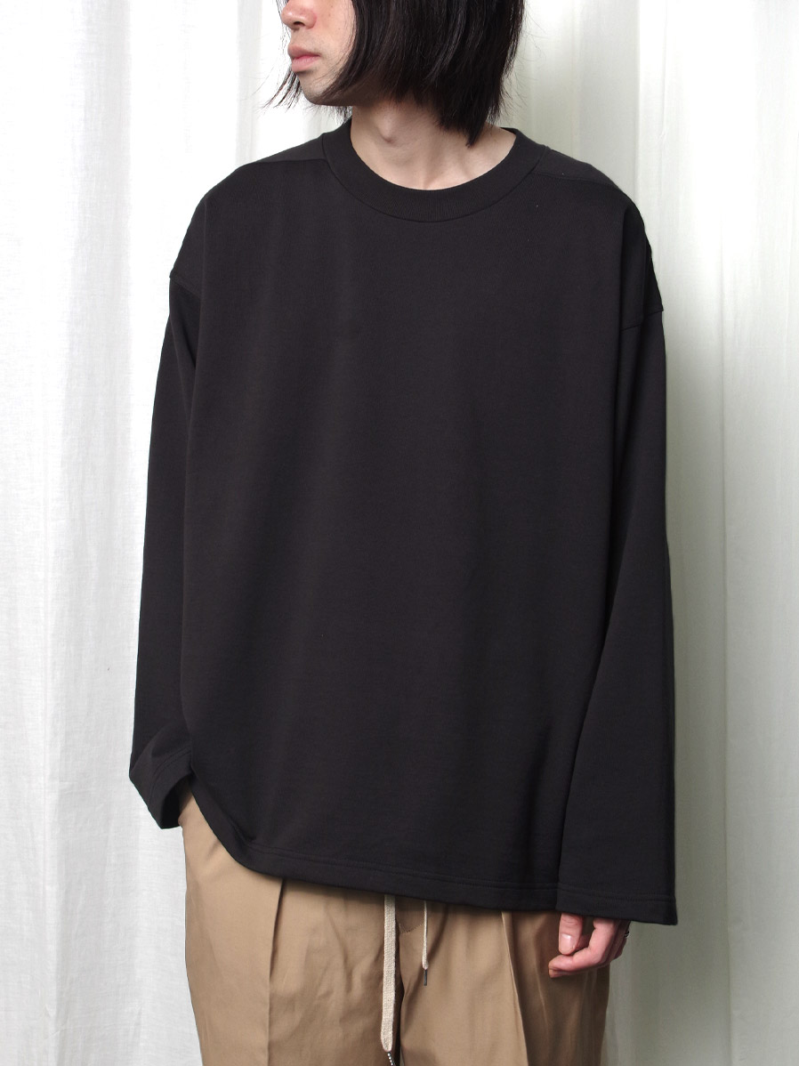 """【2020AW】 ANEI (アーネイ)  """"W.C. SWEAT LOOSE"""" <スウェット> - CHARCOAL"""