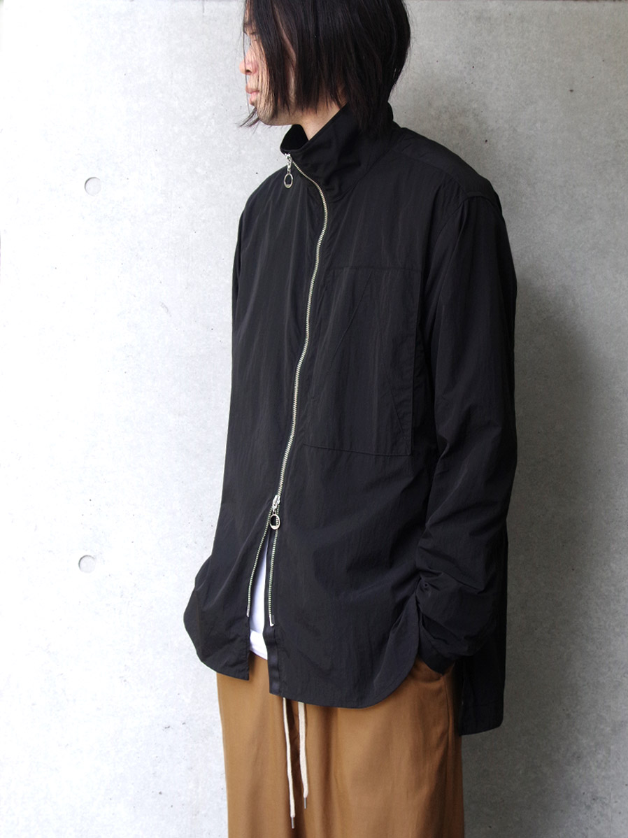 "【2020AW】 ANEI (アーネイ)  ""ZIPUP SHIRT ""A"""" <シャツ> - BLACK"