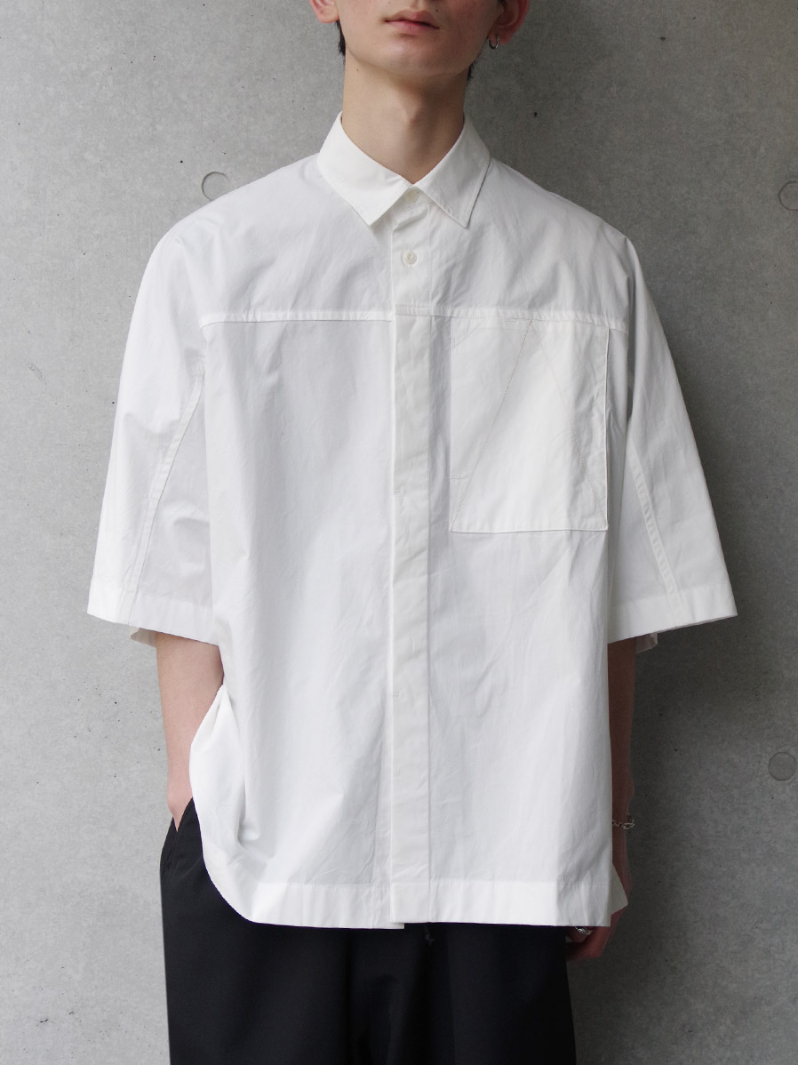 """【2020SS】 ANEI (アーネイ)  """"ACTIVE SHIRT """"A"""" H.S."""" <シャツ> - WHITE"""
