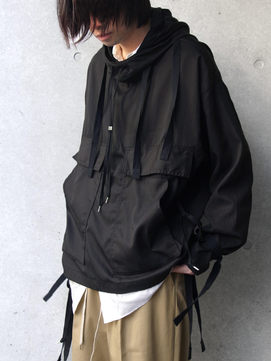 "ANEI (アーネイ)  ""NAVAL HOODIE"" <アノラック> - BLACK"